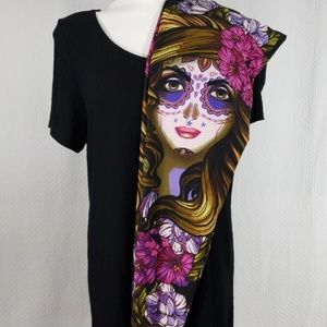 Lularoe TC Day of the dead Leggings & Classic Tee